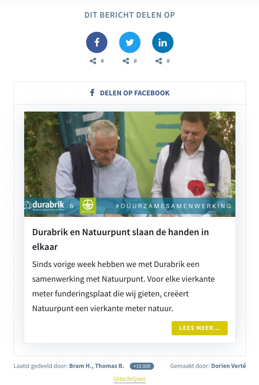 Durabrik - seeding page Natuurpunt