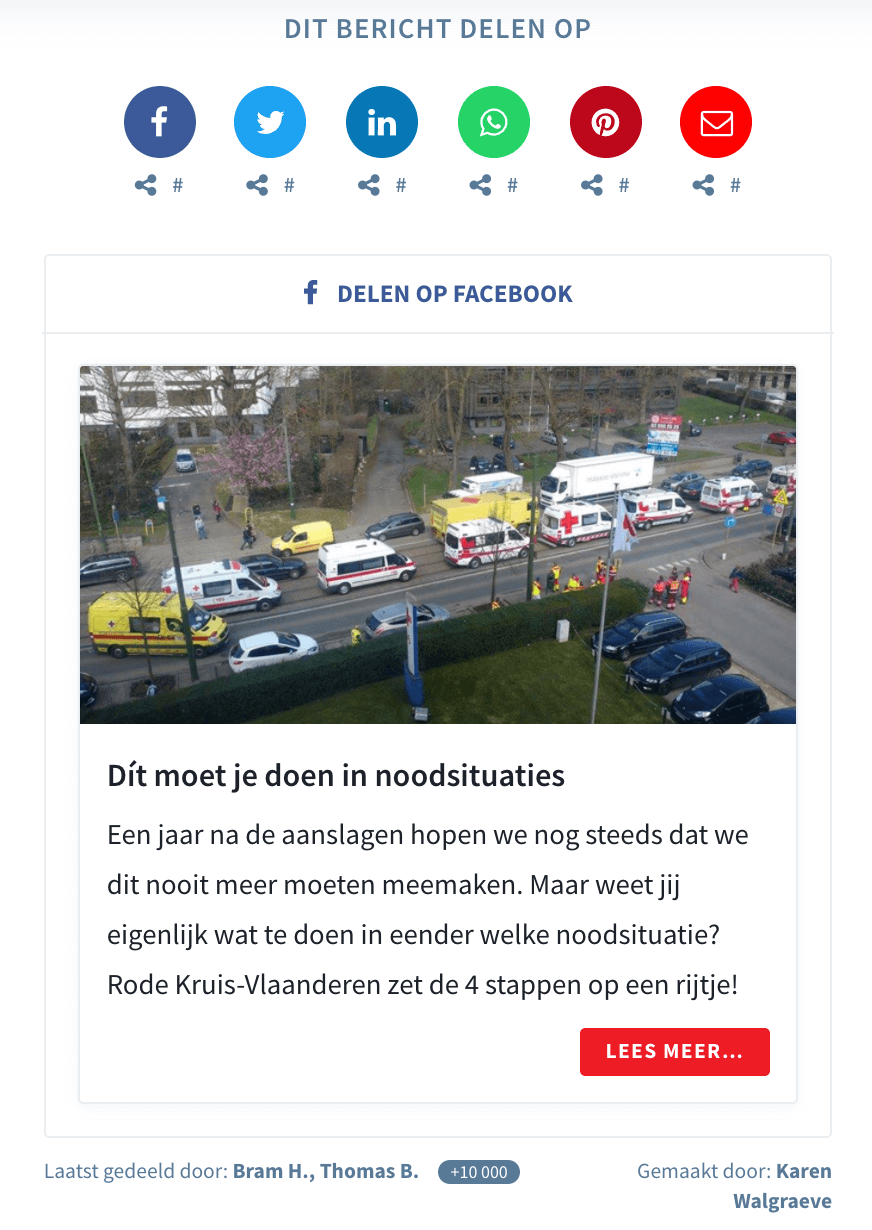Use Case Rode Kruis - Seeding Page - Emergency situation