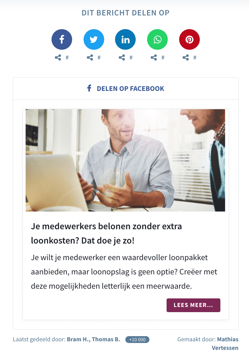 Use Case SD Worx - Seeding Page (NL)