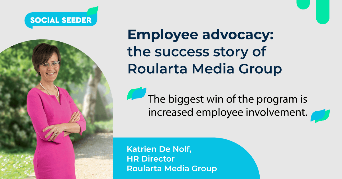 How employees contribute to Roularta Media Group's online content strategy